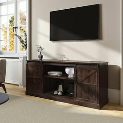 "Espresso FarmhouseStyle 58""TV Stand With Sliding Barn Door C"