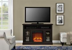 Espresso Wooden TV Stand Entertainment Center Electric Firep