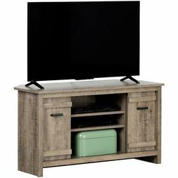 """South Shore Exhibit 41"""" Corner TV Stand in Weathered Oak"""