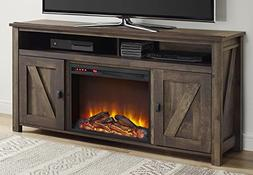 "Altra Furniture Farmington 60"" Media Heritage Pine Fireplace"