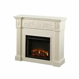FE9279 Calvert Carved Electric Fireplace - Ivory