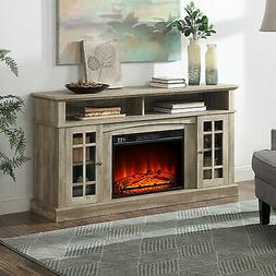 Fireplace TV Stand Console Media Shelves For TVs up to 65""