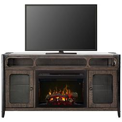 """BOWERY HILL 60"""" Fireplace TV Stand in Noir Brown"""