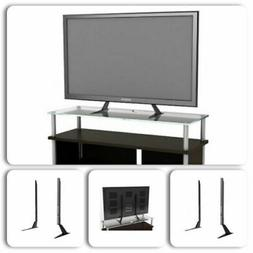 Flat TV Stand LCD Table Top Base Led Oled 42 Inch Screen Bla