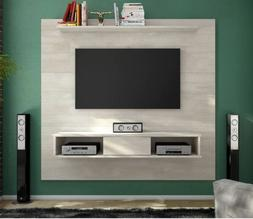 Floating Entertainment Center Rustic Wall Unit Mount Media 7