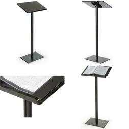 Displays2Go Floor Standing Speaking Podium, Slanted Top, Qui