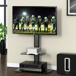 Floor TV Stand TVs to 55 Inch Swivel Adjustable Height With