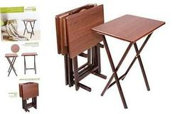 Folding TV Dining, Laptop Computer Stand, Gaming, Desk-4 Pie