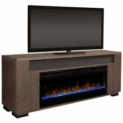 "Dimplex Haley 76"" Fireplace TV Stand with Soundbar in Rift G"