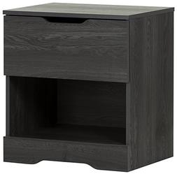 South Shore Holland 1-Drawer Nightstand, Gray Oak
