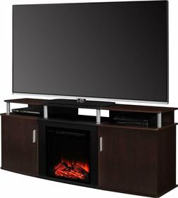 Ameriwood Home Media Console Rustic Electric Fireplace Moder