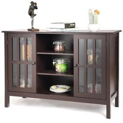 Home Wood Storage Organizer Console Cabinet Room TV Stand Ho