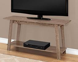 """Monarch Specialties I 2736 TV Stand-42"""" L, Dark Taupe"""