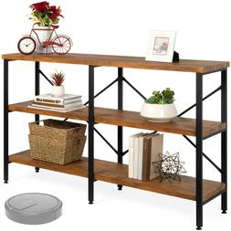 Industrial Console Table TV Stand Entryway Hallway Storage S
