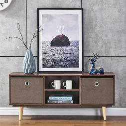Industrial TV Stand End Table Bedside Cabinet W/ Storage Liv