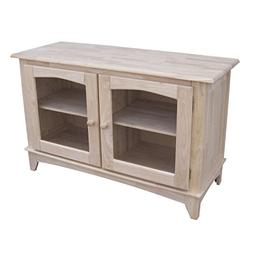 International Concepts Tv-42 TV Stand with Glass Doors, Read