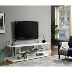 "Furniture of America Jerry Contemporary 72"" TV Stand in Whit"