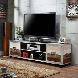 Furniture of America Kenzy Contemporary Industrial 70-inch E