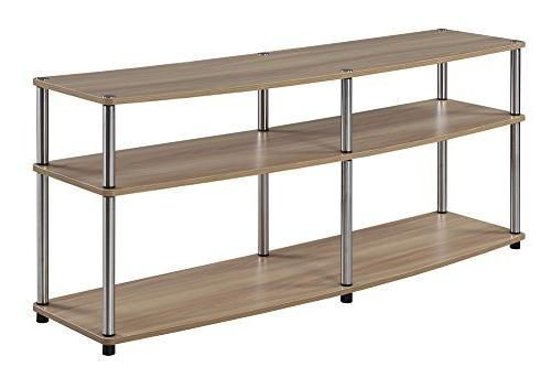 """Convenience Concepts 3-Tier TV Stand, 60"""", Light"""