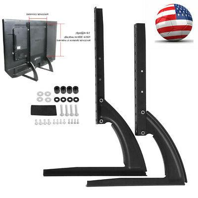 Universal Table Top TV Stand Leg Mount Holder Bracket for Fl