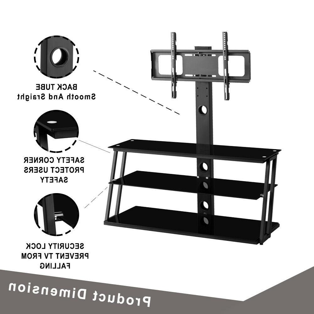 3-Tier Adjustable TV Stand w/ For 32-65 Panel TVs