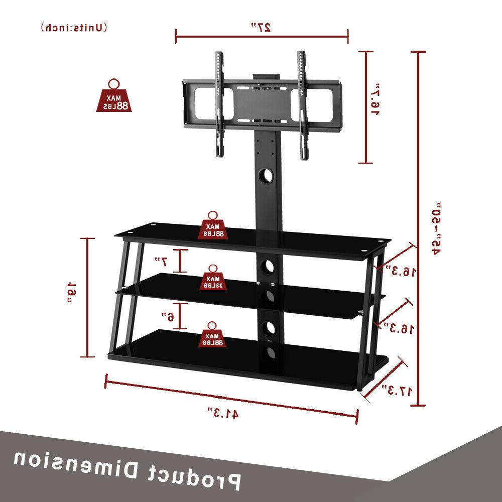 3-Tier w/ Tempered For 32-65 in Panel TVs