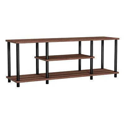 Brown 3-Tier TV Stand Home Living Room Media Center Console