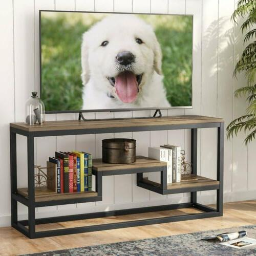 LITTLE TREE 59''L TV Stand Industrial Rustic Large Console T