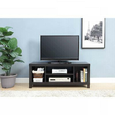 Black Oak Flat Screen TV Stand For TVs Up To 42 Home Wooden