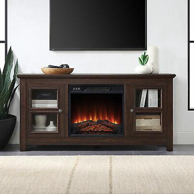50 tv console stand with electric fireplace