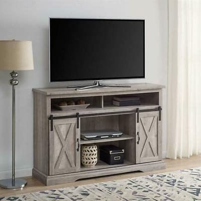 """52"""" TV Stand Sliding Barn Door Console For TV's Up to 60"""" En"""