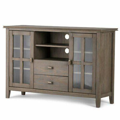 53 tall tv stand in distressed gray