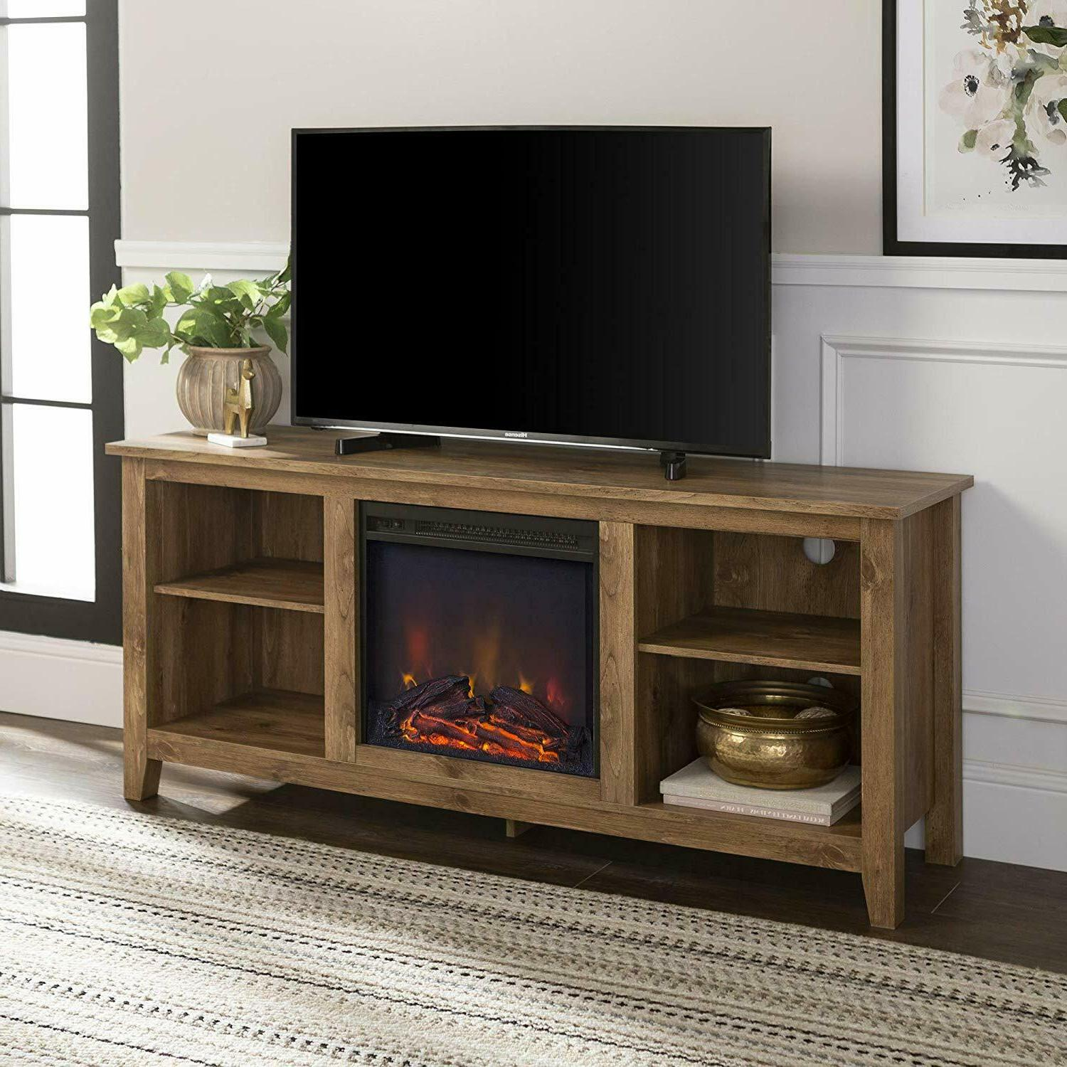 58 wood tv stand storage console new