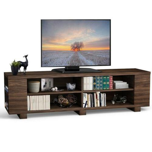 """59"""" TV Stand Console Center Media Wood"""