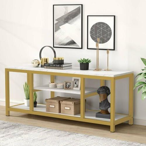 3-Tier TV Stand Sofa Console Entryway Table for Living Room