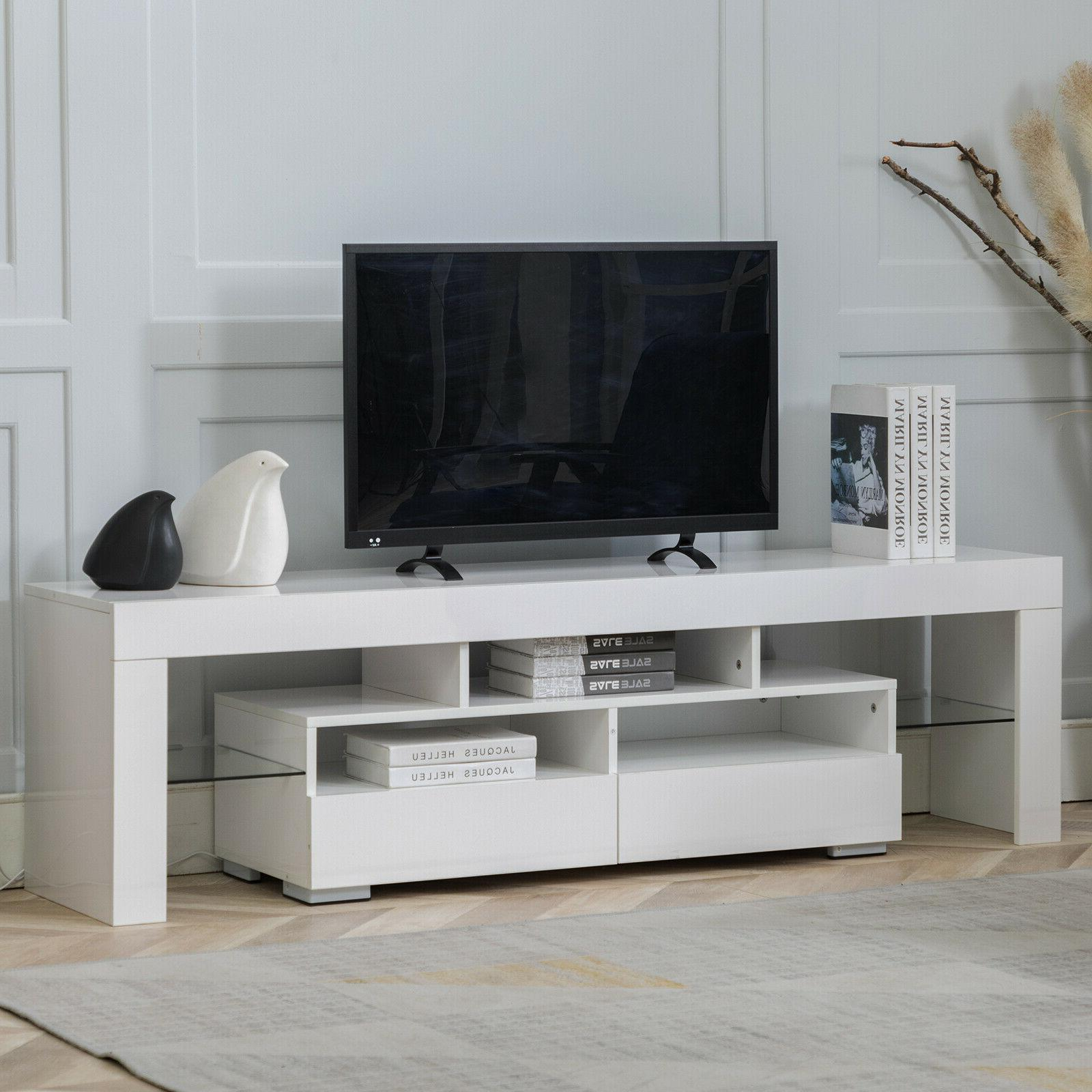 """63"""" TV Cabinet Table with LED Shelve Furniture"""