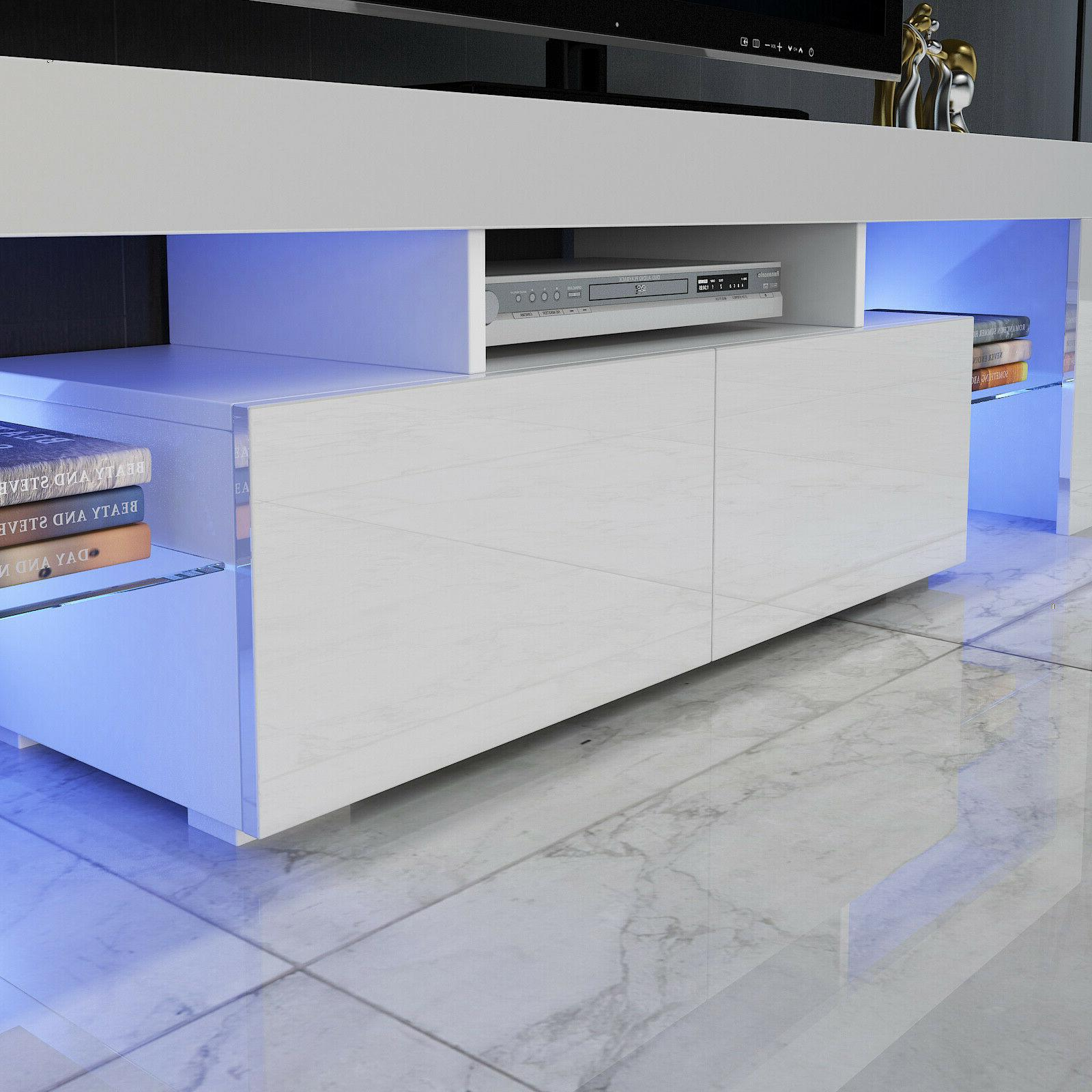 """63"""" High TV Stand Center LED Large"""