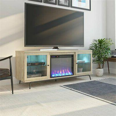 Ameriwood Home View Fireplace Oak