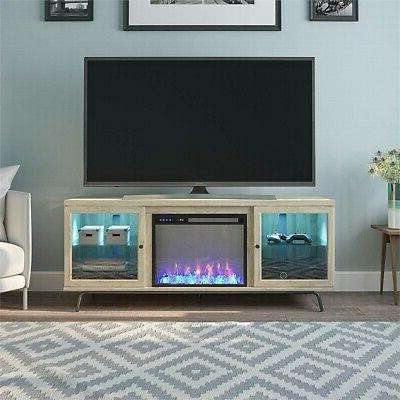 """Ameriwood View 70"""" Oak TV Stand"""
