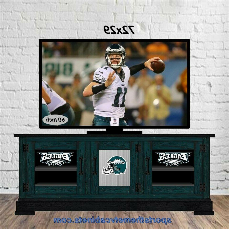 72 philadelphia eagles tv cabinet stand console