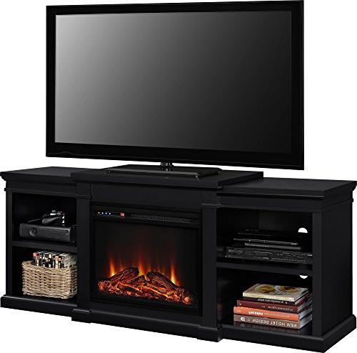 Ameriwood Home Fireplace for TVs Black