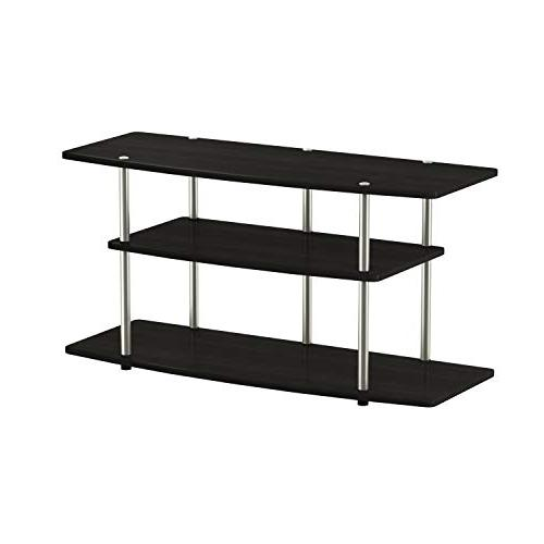 Convenience Concepts 3-Tier Wide TV Stand, Black