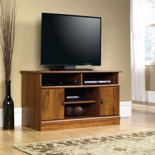 Panel Stand, TV's up to Abbey finish