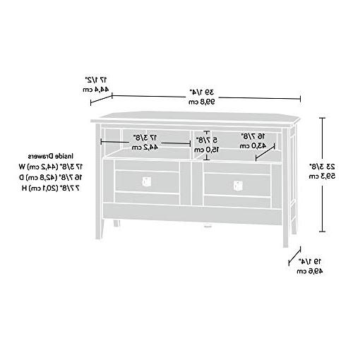 Sauder Hill Corner Entertainment Stand TV's up Oiled