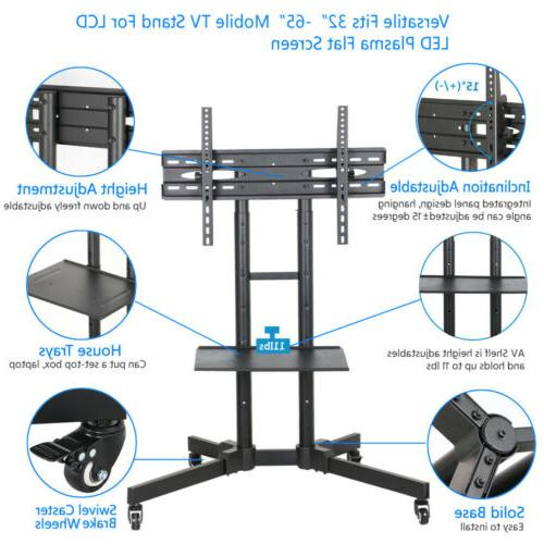 """TV Cart Stand LCD Flat Panel Mobile Fits 32""""to 70"""""""