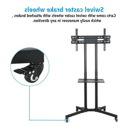 """TV Cart Stand Plasma LCD Flat Panel w/ Fits 32""""to"""
