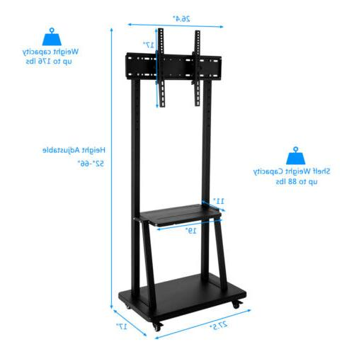 """TV Mobile Mount with Shelf for 50 55 65 70 75 80"""""""