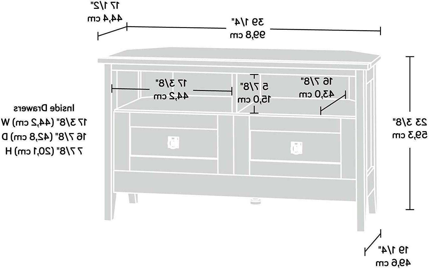 """Stand TV's to 40"""" Oak Finish"""