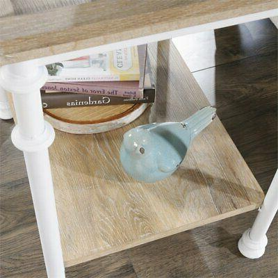 Sauder Street Table in Oak and White