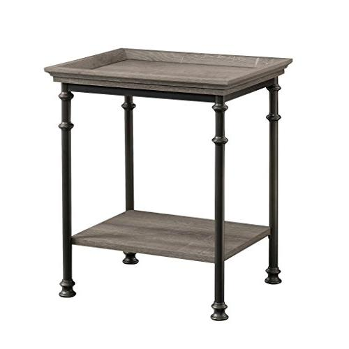 "Sauder Canal Street Side Table, L: x W: 17.48"" H: 24.49"", Finish"